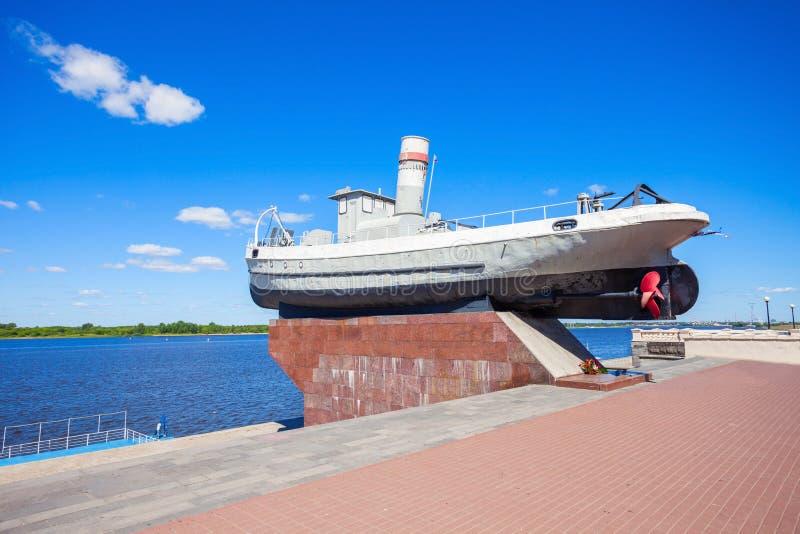 Βάρκα ηρώων, Nizhny Novgorod στοκ φωτογραφία με δικαίωμα ελεύθερης χρήσης