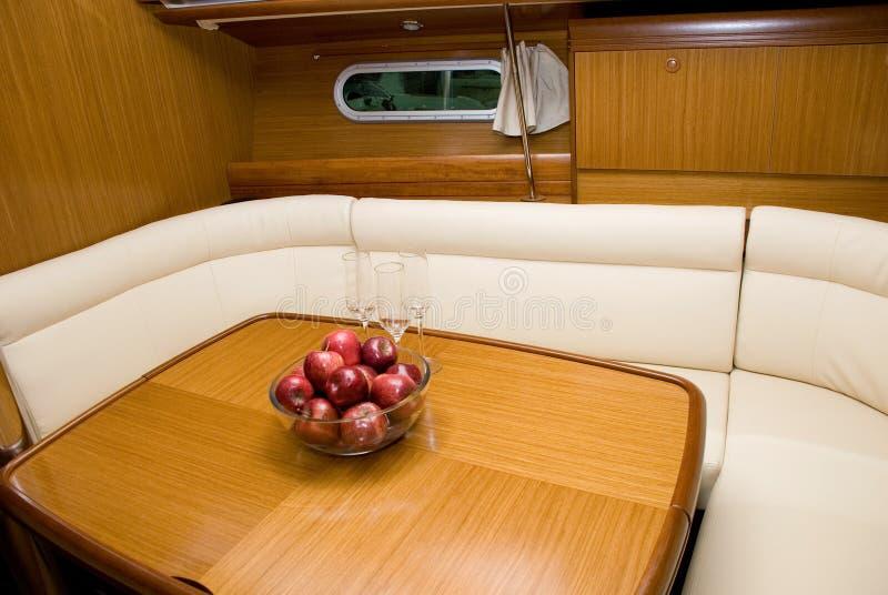 βάρκα ΙΙ εσωτερικό στοκ εικόνες