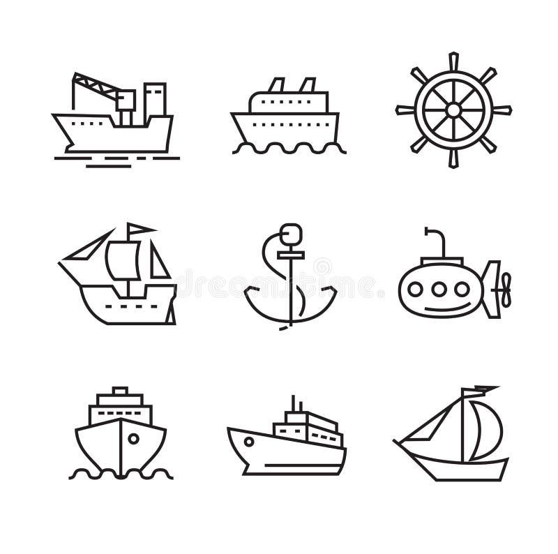 Βάρκα και σκάφος διανυσματική απεικόνιση