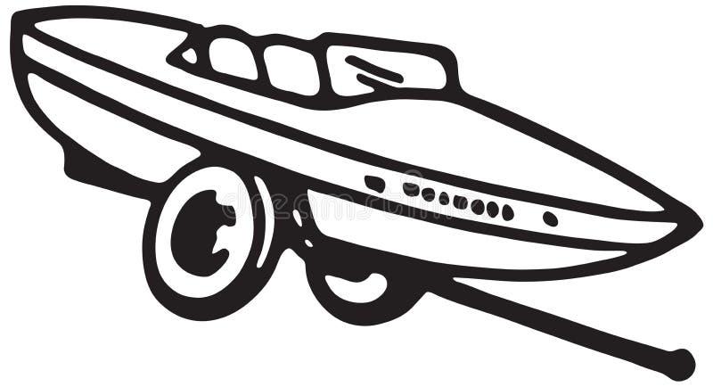 Βάρκα μηχανών στο ρυμουλκό ελεύθερη απεικόνιση δικαιώματος