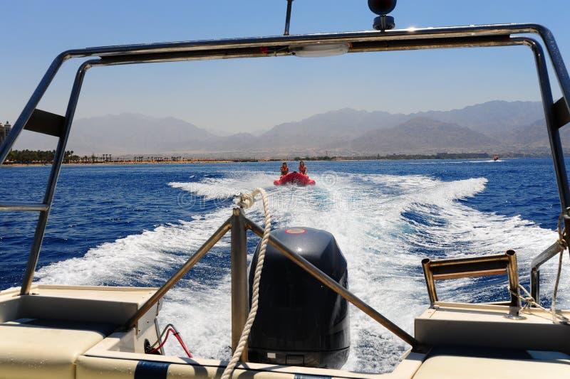 βάρκα μπανανών στοκ φωτογραφίες