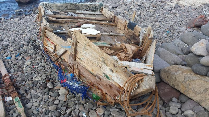 Βάρκα που σχεδιάζεται handly στοκ φωτογραφία με δικαίωμα ελεύθερης χρήσης