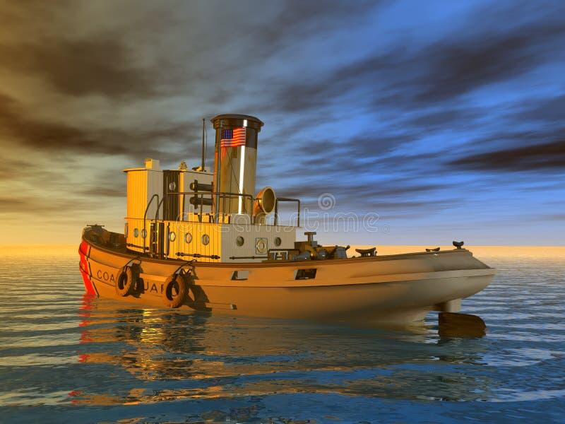Βάρκα ρυμουλκών ελεύθερη απεικόνιση δικαιώματος