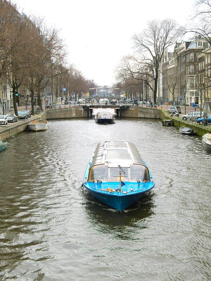 Βάρκα 0936 τουριστών του Άμστερνταμ στοκ εικόνες