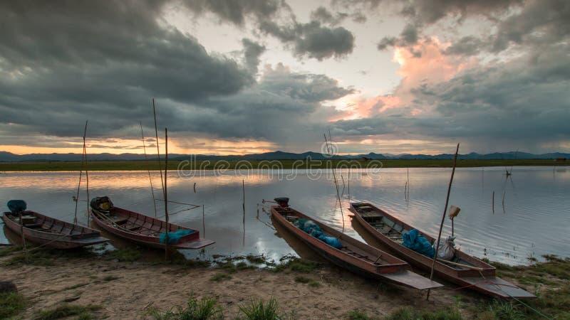 Βάρκα ψαράδων, Ταϊλάνδη στοκ εικόνες