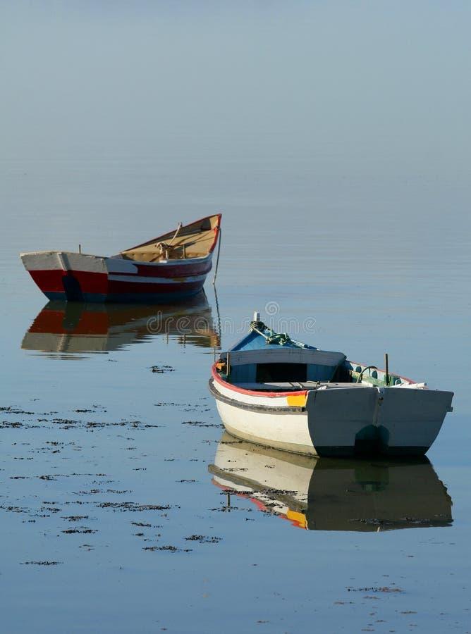 βάρκες δύο στοκ εικόνες