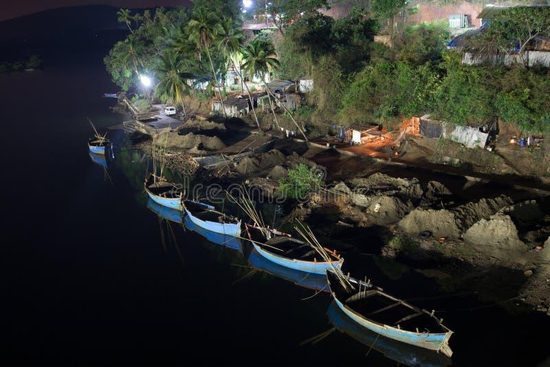 Βάρκες νύχτας στοκ εικόνα