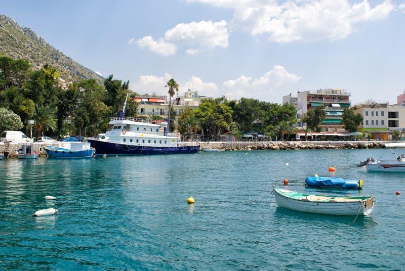 βάρκες που αλιεύουν την αποβάθρα στοκ εικόνες με δικαίωμα ελεύθερης χρήσης