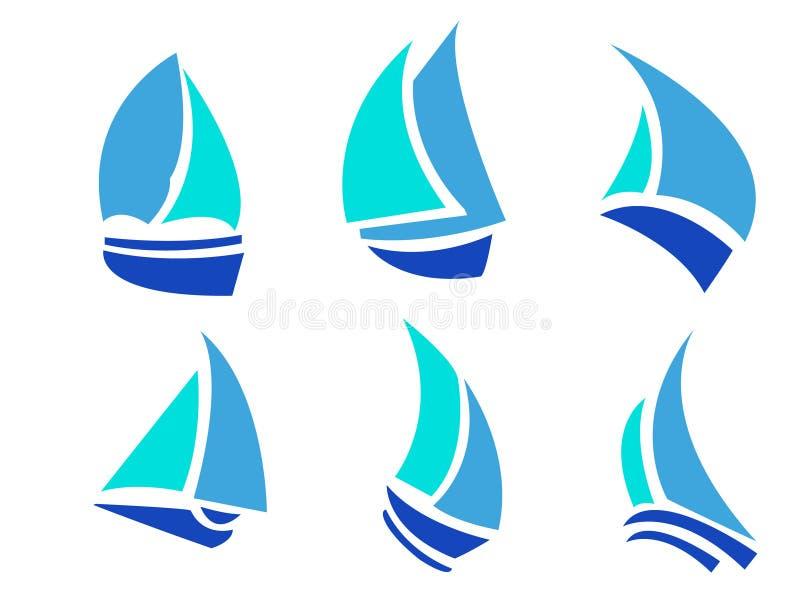 βάρκες που τίθενται διανυσματική απεικόνιση