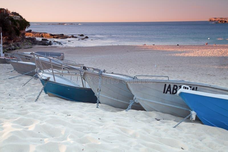 Βάρκες σε Coogee στοκ εικόνες με δικαίωμα ελεύθερης χρήσης