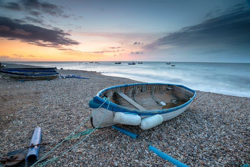Βάρκες σε Selsey Μπιλ στοκ εικόνες