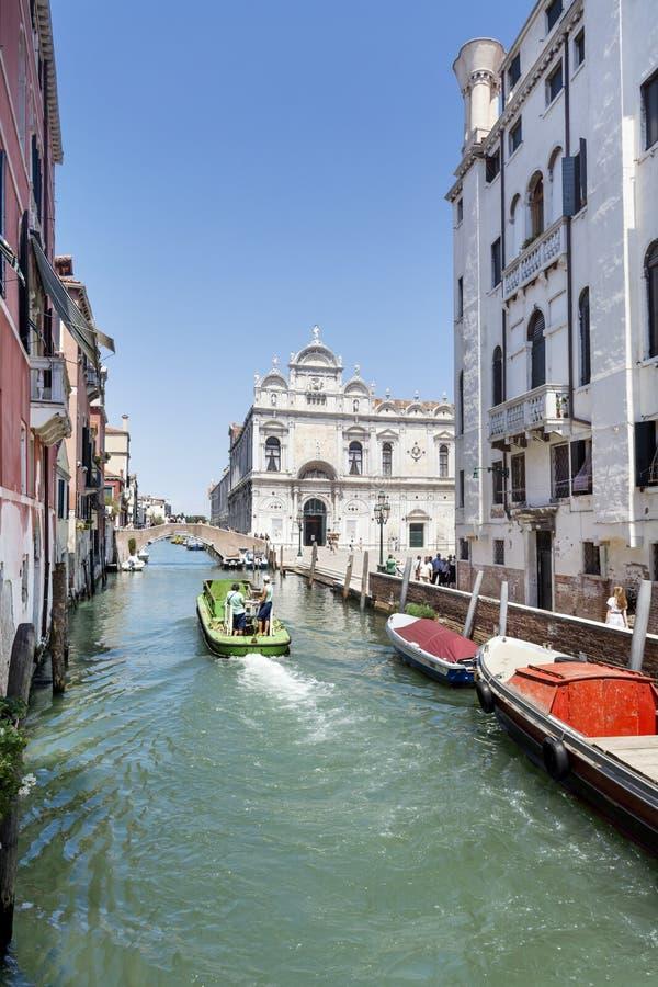Βάρκες στη Βενετία, Ιταλία στοκ εικόνες με δικαίωμα ελεύθερης χρήσης