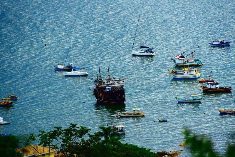 Βάρκες στη γωνία ψαράδων ` s στοκ εικόνες