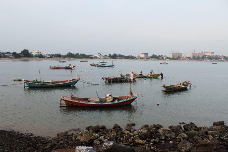 Βάρκες στη θάλασσα στοκ φωτογραφίες
