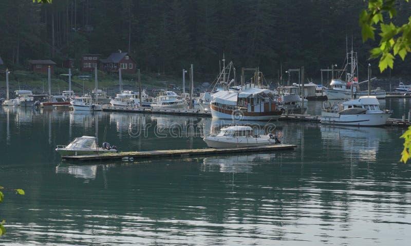 Βάρκες στο λιμάνι Tee της Αλάσκας στοκ εικόνα