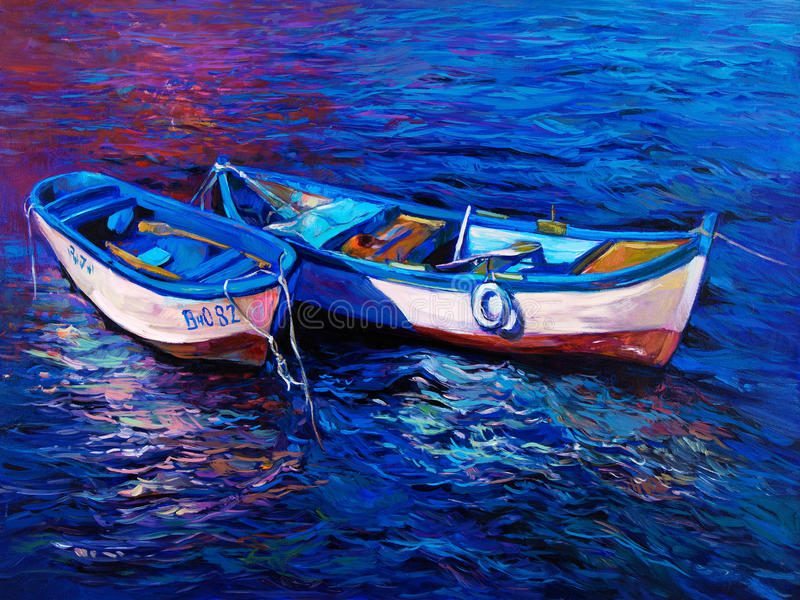βάρκες διανυσματική απεικόνιση