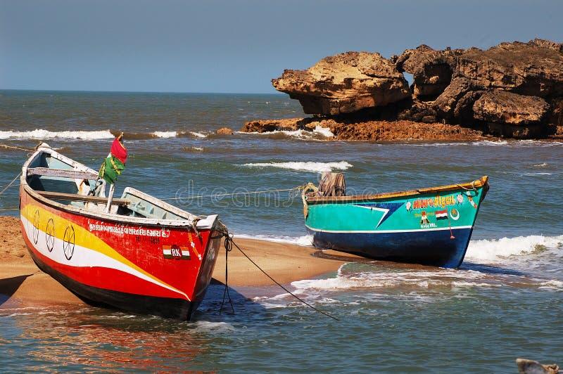 βάρκες Gujarat στοκ εικόνες