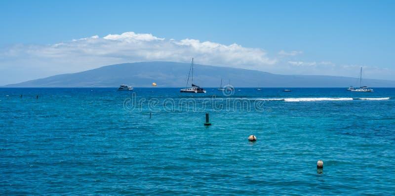 Βάρκες Lahaina στοκ εικόνες