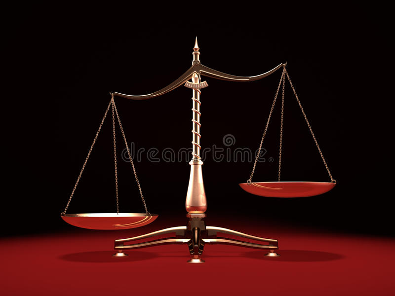 βάρος κλιμάκων ορείχαλκ&omi ελεύθερη απεικόνιση δικαιώματος
