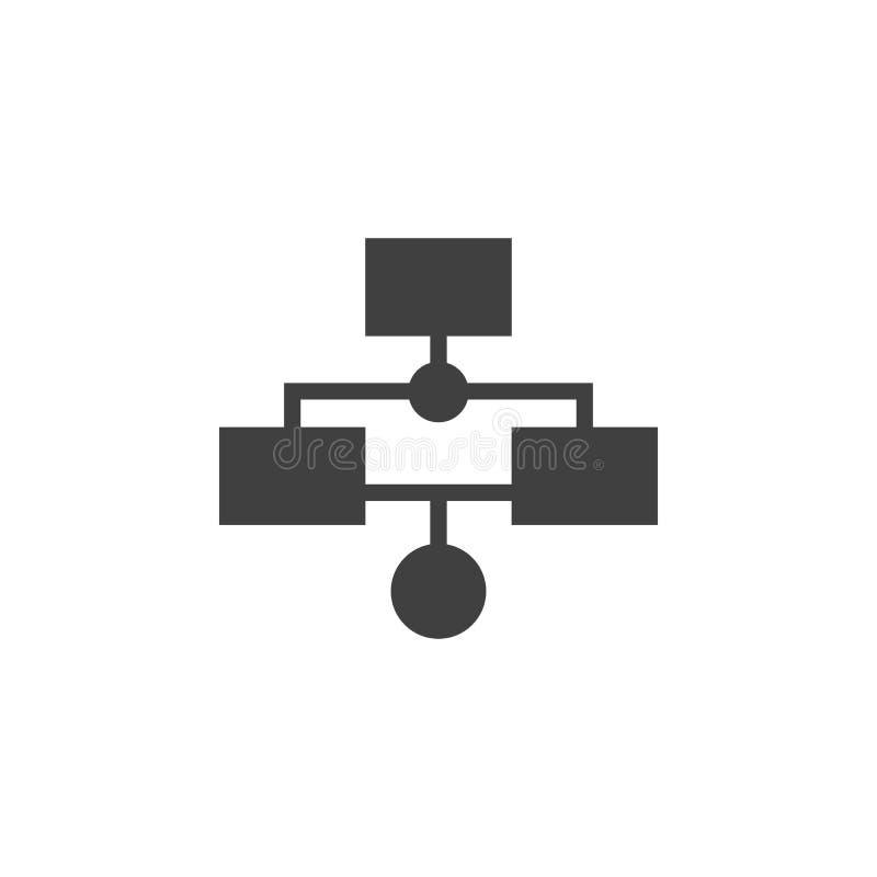 Βάση δεδομένων, κεντρικός υπολογιστής, διανυσματικό εικονίδιο ροής της δουλειάς Στοιχείο των στοιχείων για την κινητή απεικόνιση  διανυσματική απεικόνιση