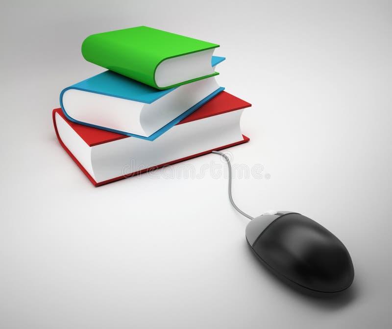 Βάση δεδομένων βιβλίων Ε ελεύθερη απεικόνιση δικαιώματος