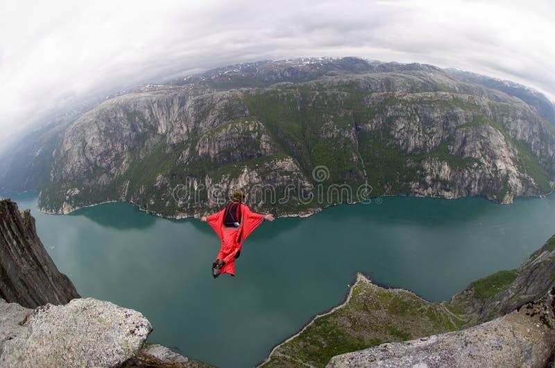 βάση που πηδά τη Νορβηγία στοκ εικόνες με δικαίωμα ελεύθερης χρήσης