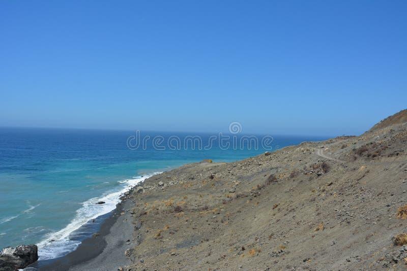 Βάση της φωτογραφικής διαφάνειας κολπίσκου λάσπης - μεγάλο μεγάλο sur καθιζήσεων εδάφους, Καλιφόρνια στοκ εικόνες