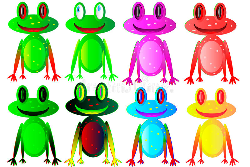 βάτραχοι που τίθενται στοκ φωτογραφία με δικαίωμα ελεύθερης χρήσης