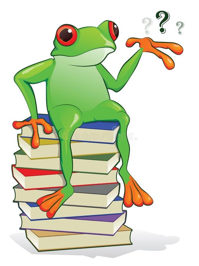 βάτραχος βιβλίων διανυσματική απεικόνιση