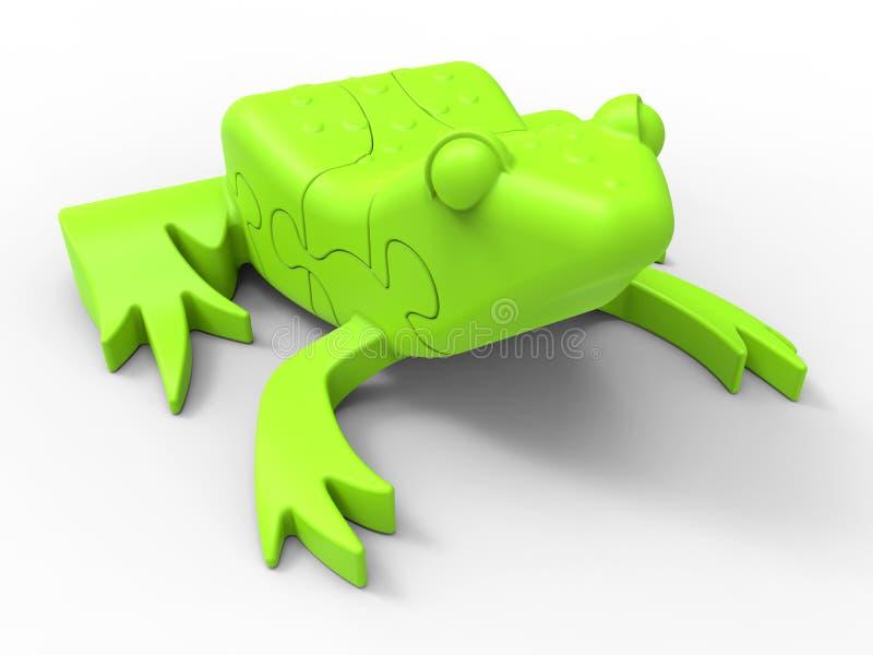 Βάτραχος τορνευτικών πριονιών απεικόνιση αποθεμάτων