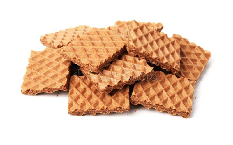 Βάφλες με τη σοκολάτα στοκ εικόνα με δικαίωμα ελεύθερης χρήσης