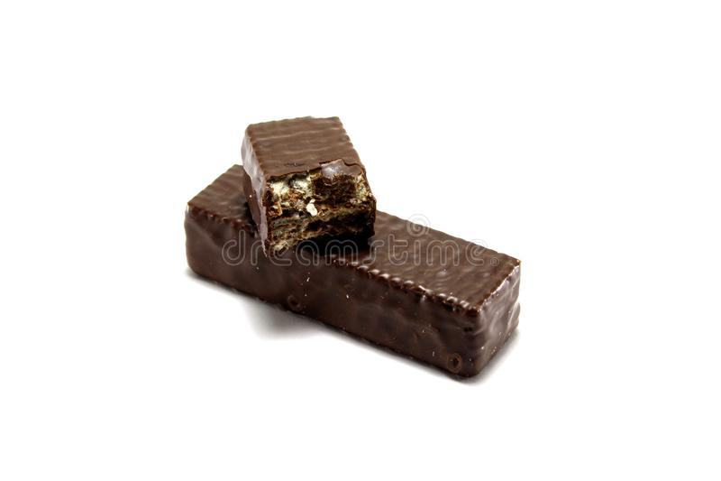 Βάφλες στη σοκολάτα στοκ εικόνες