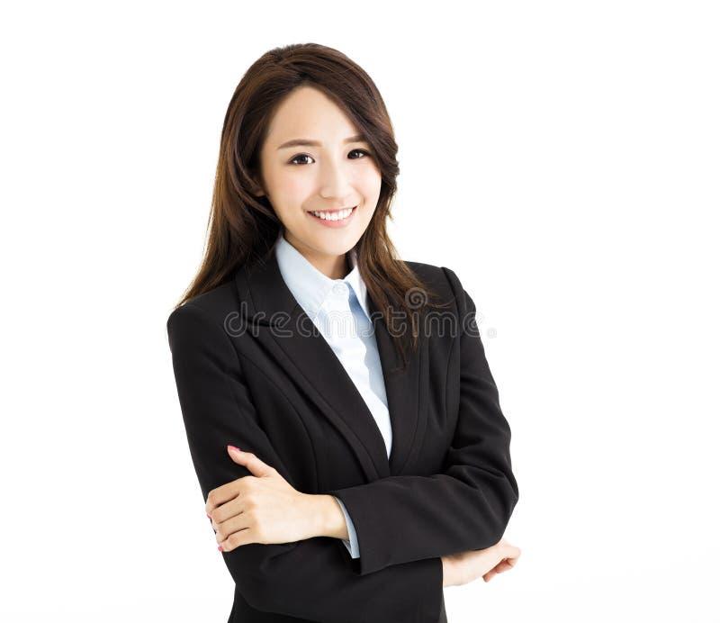 Βέβαια νέα ασιατική επιχειρησιακή γυναίκα στοκ εικόνα