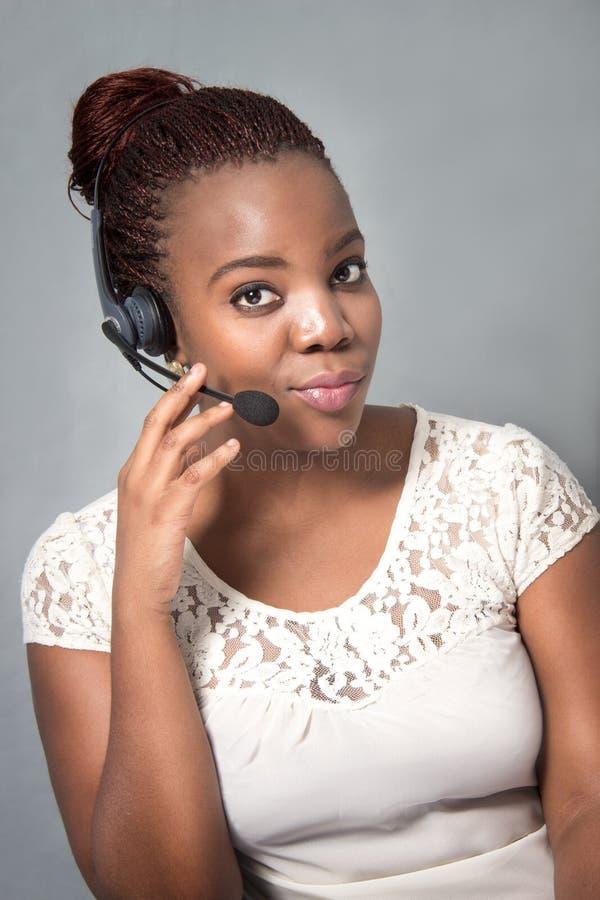 Βέβαια ομιλία πρακτόρων τηλεφωνικών κέντρων στοκ φωτογραφία με δικαίωμα ελεύθερης χρήσης