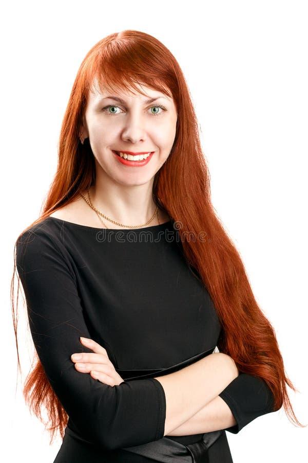 Βέβαια όμορφη επιχειρησιακή redhead γυναίκα στοκ εικόνες
