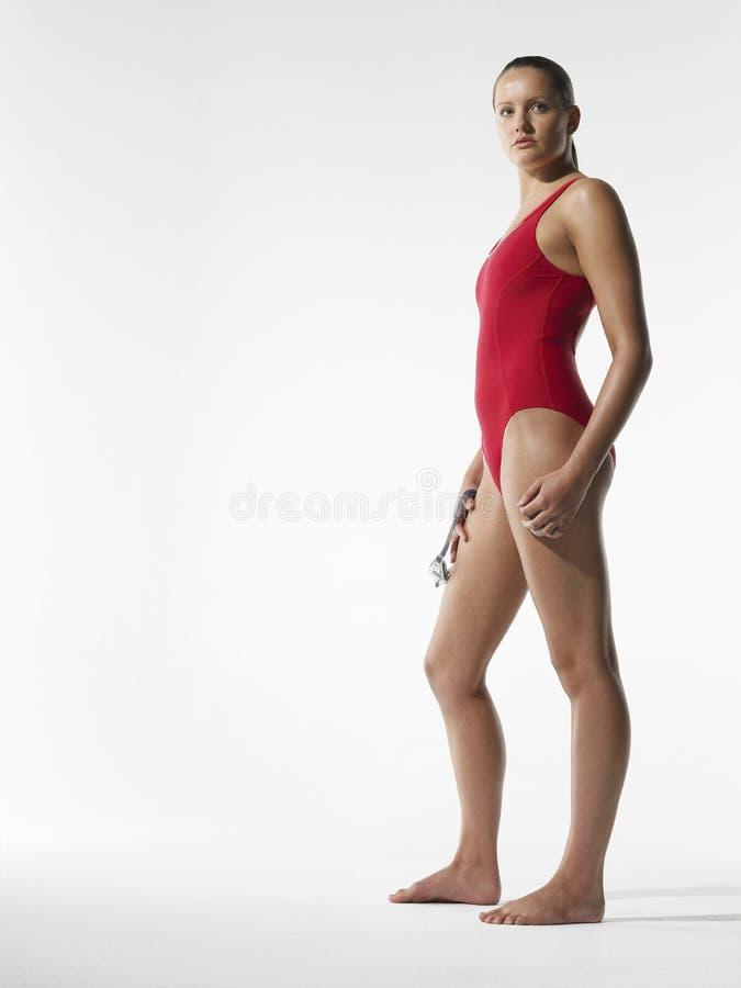 Βέβαιος θηλυκός κολυμβητής στοκ εικόνες