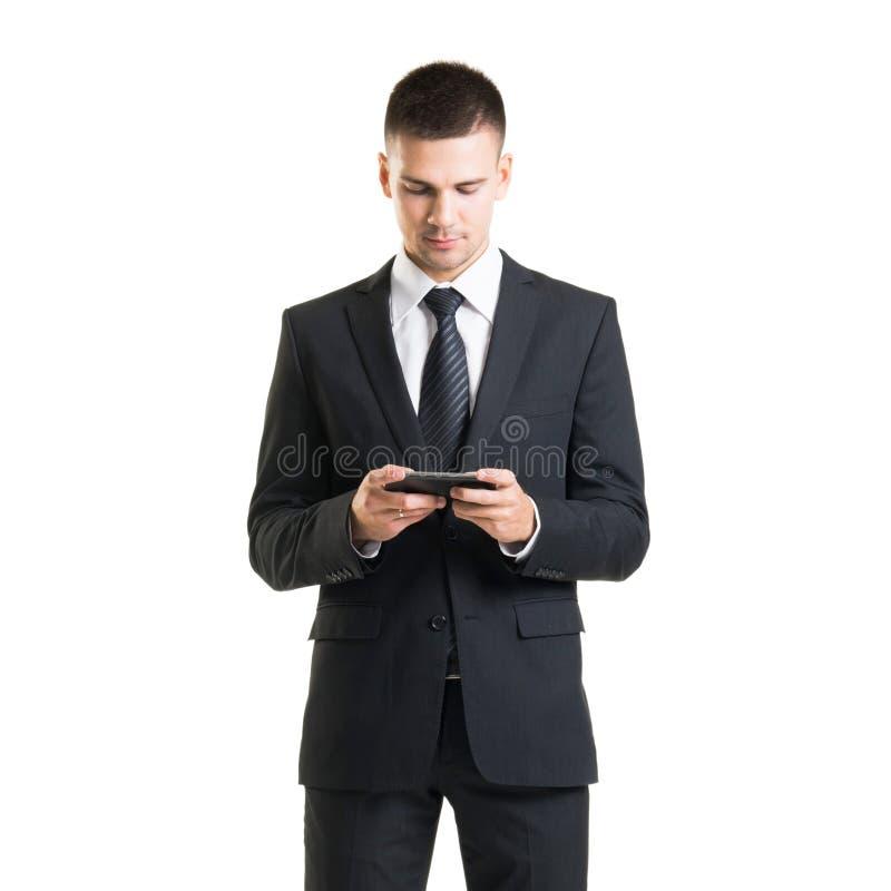 Βέβαιο άτομο σε formalwear Επιχειρηματίας στο κοστούμι που απομονώνεται στο λευκό στοκ φωτογραφία με δικαίωμα ελεύθερης χρήσης