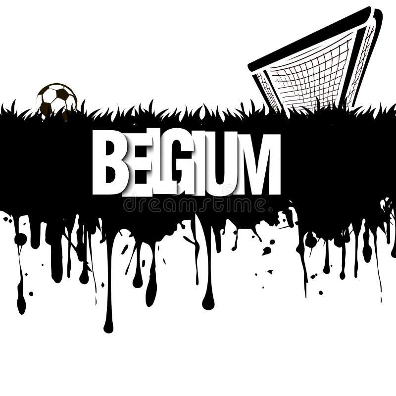 Βέλγιο με μια σφαίρα και μια πύλη ποδοσφαίρου απεικόνιση αποθεμάτων