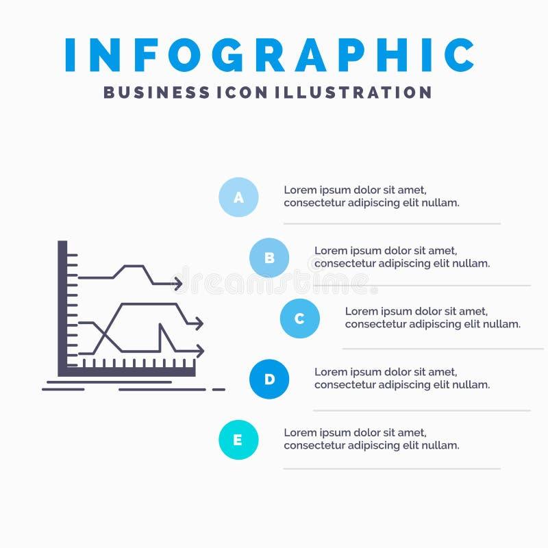 Βέλη, μπροστινός, γραφική παράσταση, αγορά, πρότυπο Infographics πρόβλεψης για τον ιστοχώρο και παρουσίαση Γκρίζο εικονίδιο GLyph απεικόνιση αποθεμάτων