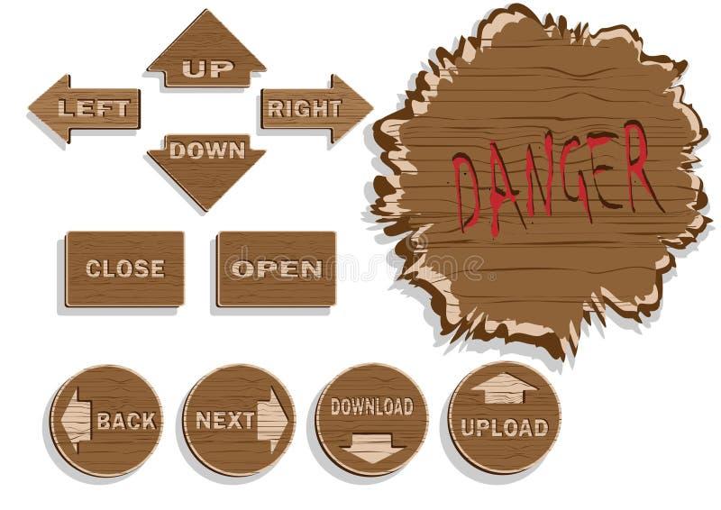βέλη ξύλινα διανυσματική απεικόνιση