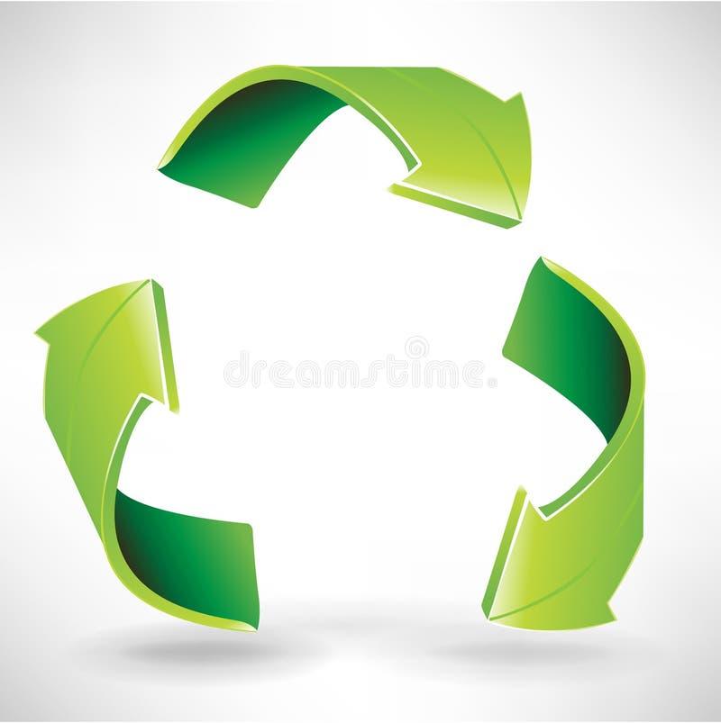 βέλη πράσινα τρία διανυσματική απεικόνιση