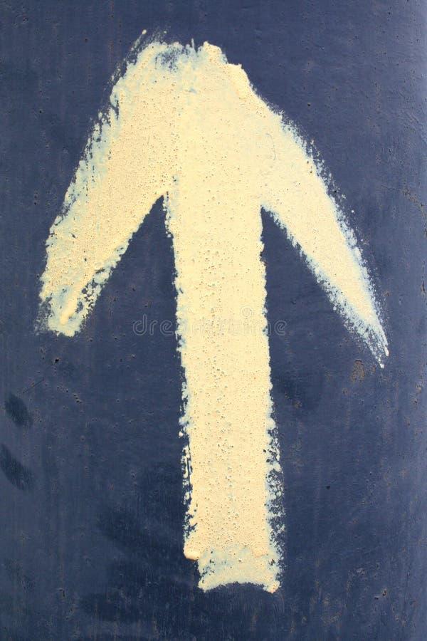 βέλος κίτρινο στοκ φωτογραφίες με δικαίωμα ελεύθερης χρήσης