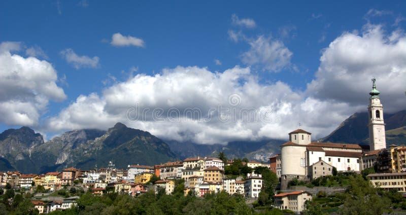 Βένετο, Ιταλία, Belluno στοκ εικόνα με δικαίωμα ελεύθερης χρήσης