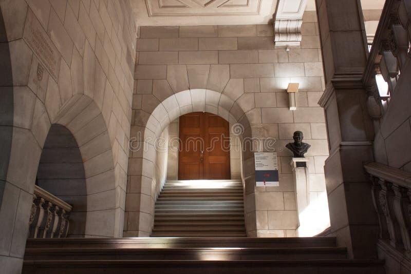 Βέλγιο, Λουβαίν - 5 Σεπτεμβρίου 2014: Ιστορική βιβλιοθήκη στο Λουβαίν στοκ φωτογραφία με δικαίωμα ελεύθερης χρήσης