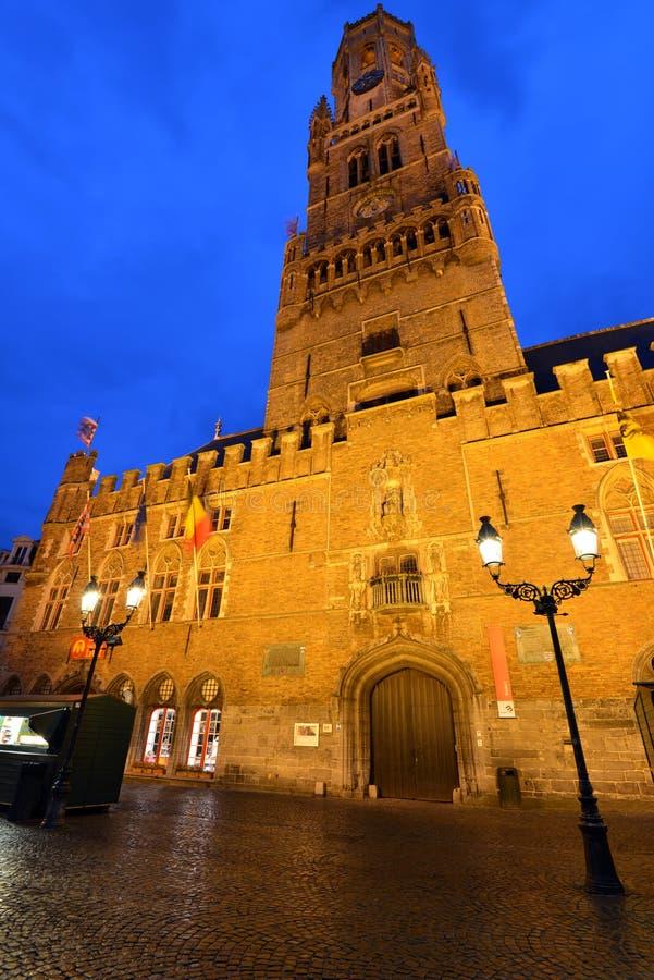 Βέλγιο, Μπρυζ, πύργος ρολογιών στοκ φωτογραφίες με δικαίωμα ελεύθερης χρήσης