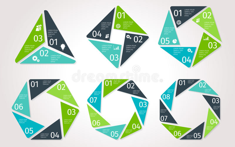 Βέλη κύκλων infographic Διανυσματικό πρότυπο στο polygonal ύφος ελεύθερη απεικόνιση δικαιώματος
