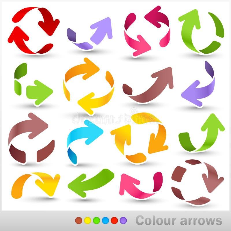 Βέλη χρώματος απεικόνιση αποθεμάτων