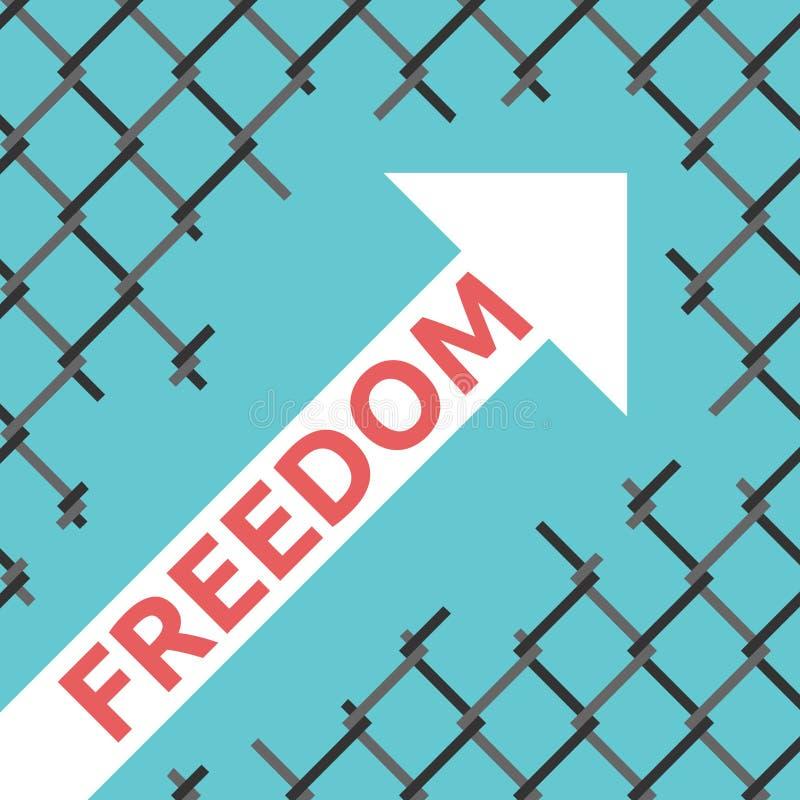 Βέλος ελευθερίας, πλέγμα καλωδίων απεικόνιση αποθεμάτων