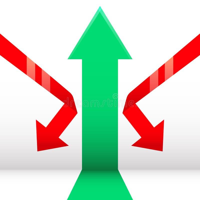 Βέλος Growth&Down ελεύθερη απεικόνιση δικαιώματος