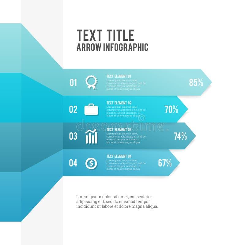 Βέλος Infographic απεικόνιση αποθεμάτων